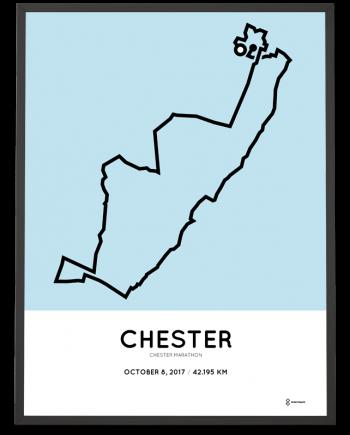 2017 Chester marathon course print