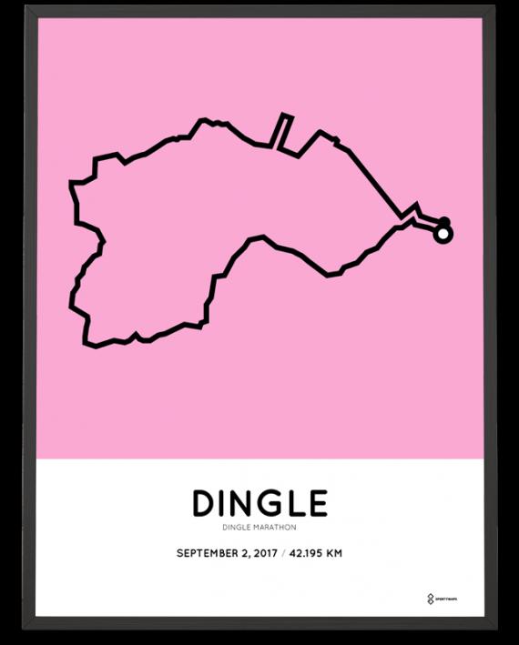 2017 Dingle marathon course poster