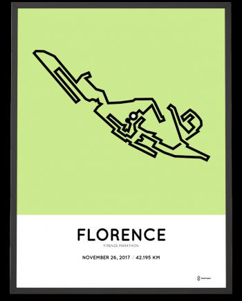 2017 firenze marathon course map poster