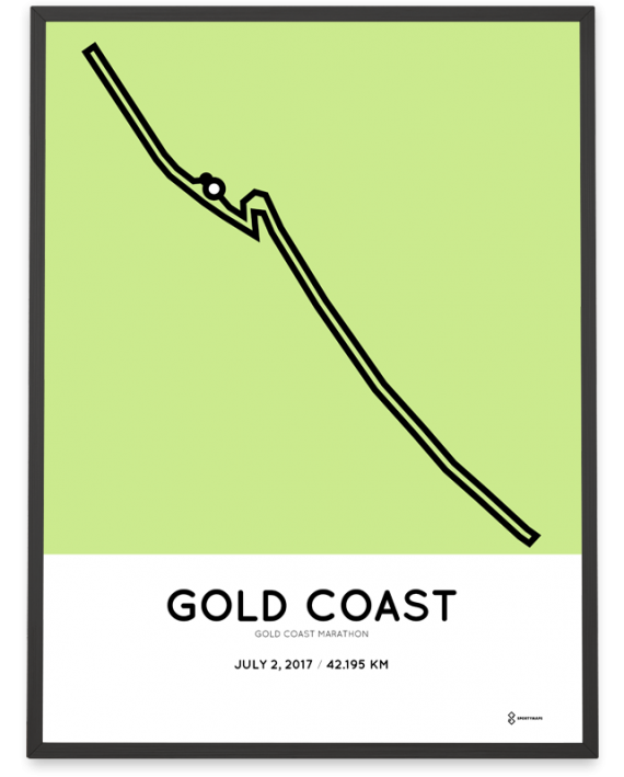 2017 Gold Coast marathon course poster