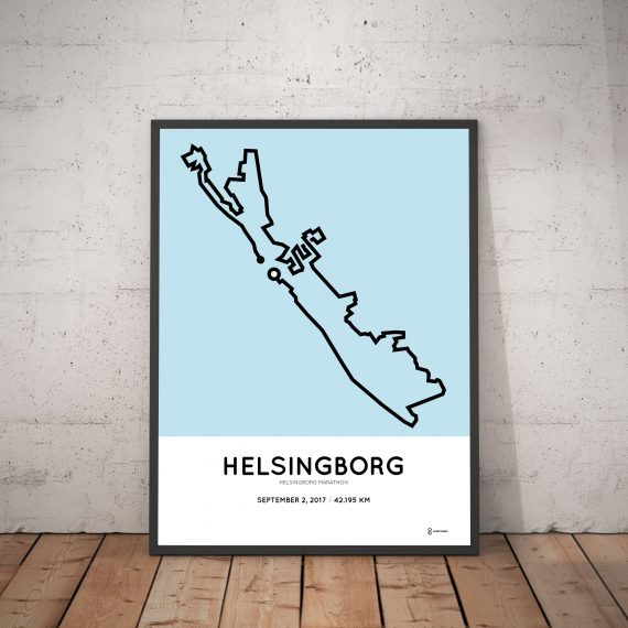 2017 Helsingborg marathon route print