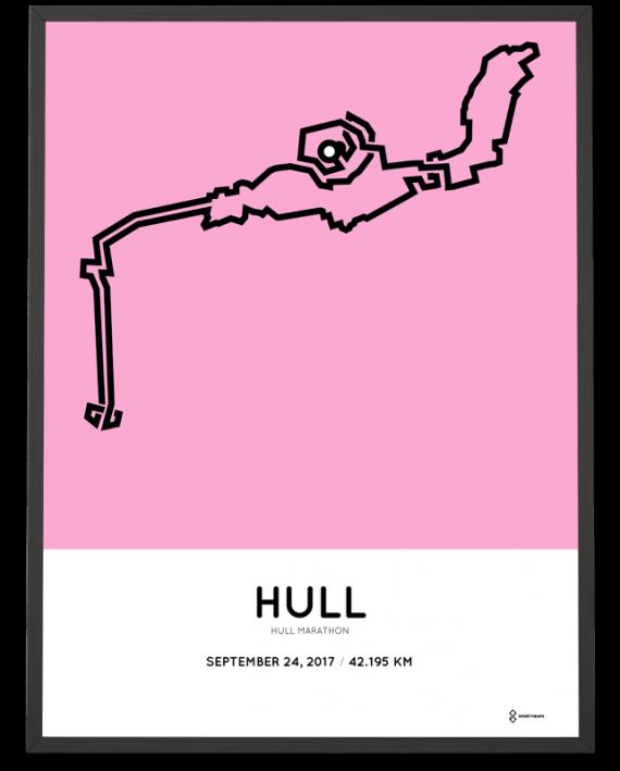 2017 Hull marathon course poster