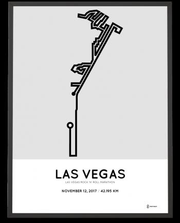 2017 Las Vegas marathon course poster