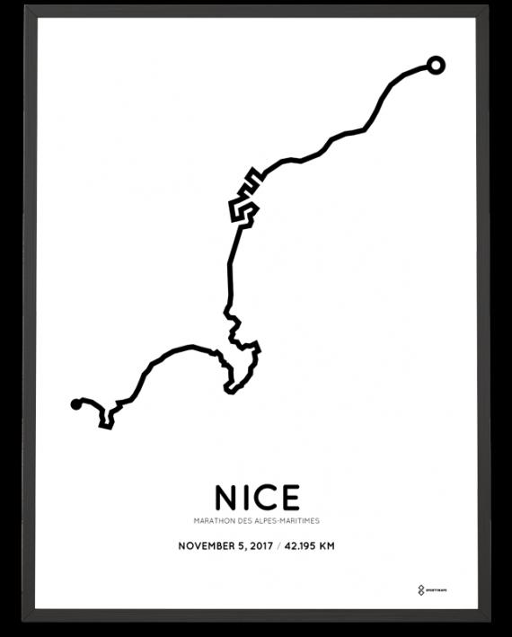 2017 Nice Cannes marathon parcours poster