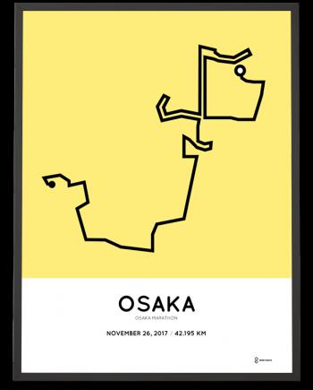 2017 Osaka marathon course poster