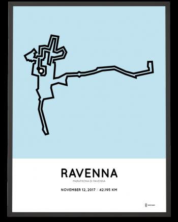 2017 Maratona di Ravenna percorso poster