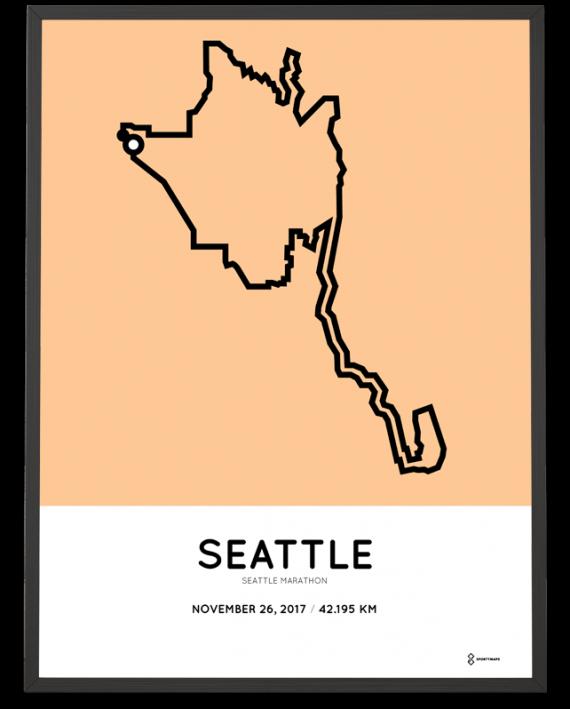 2017 Seattl marathon course map poster