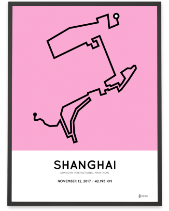 2017 Shanghai International marathon course poster
