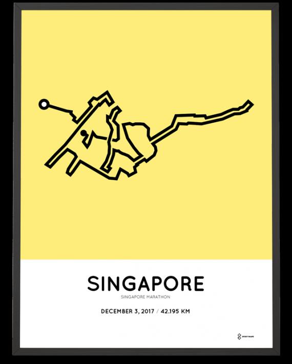2017 Singapore marathon course poster