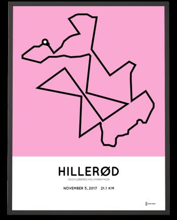 2017 Skovloberen halvmarathon course poster