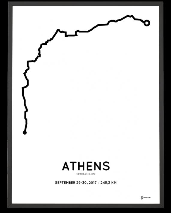 2017 Spartathlon parcours poster