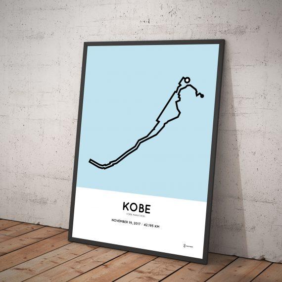 2017 Kobe marathon route poster