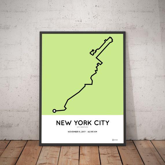 2017 NYC marathon course print