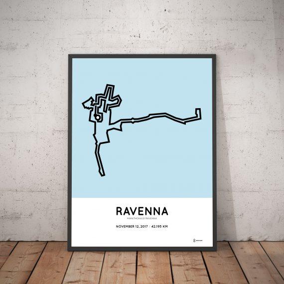 2017 Ravenna marahon course print