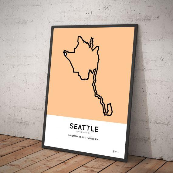 2017 Seattle marathon course print
