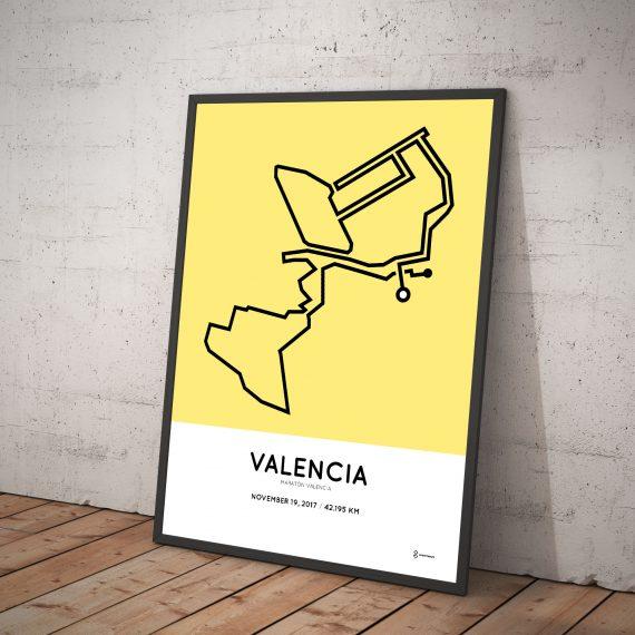 2017 Valencia marathon course print