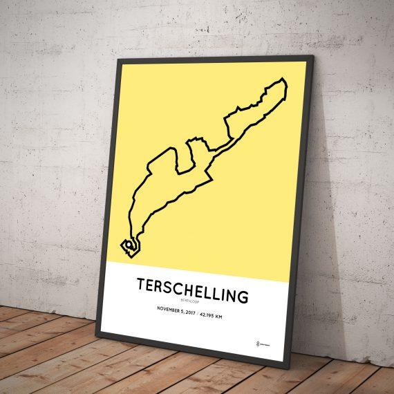 2017 berenloop terschelling course poster