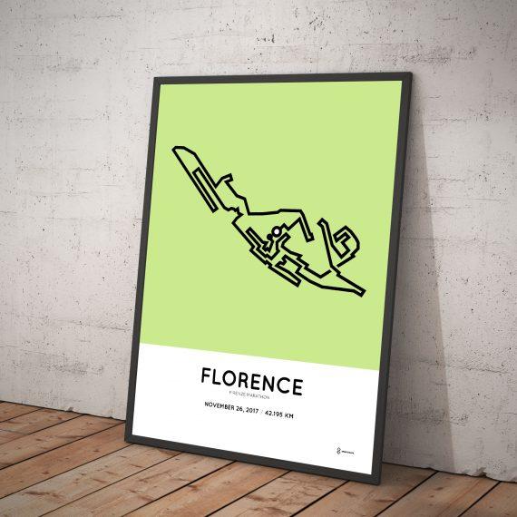 2017 florence marathon course poster