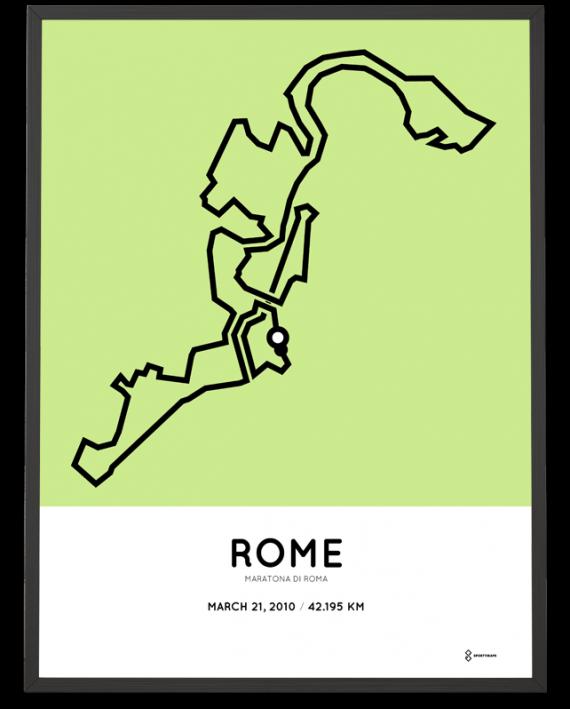 2010 Rome marathon parcours print