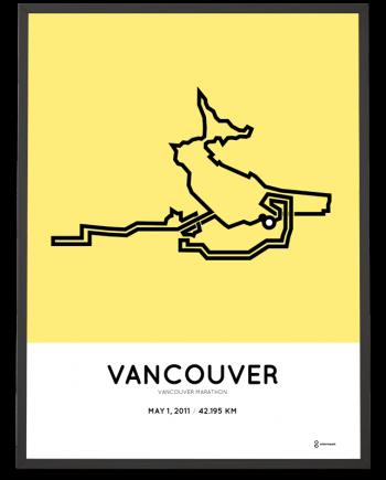 2011 Vancouver marathon course poster