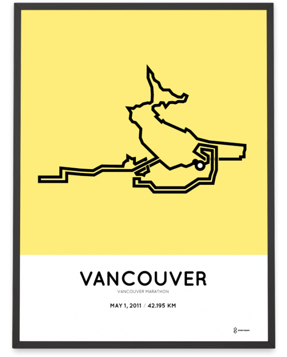 2011 Vancouver marathon course poster