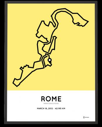2012 Maratona di Roma course poster