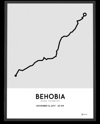 2017 Behobia san-sebastian course poster