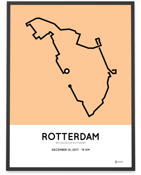 2017 Bruggenloop Rotterdam parcous poster