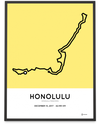 2017 Honolulu marathon course poster