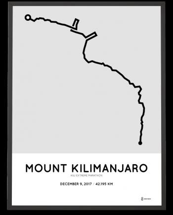 2017 Kilimanjaro extreme marathon course poster
