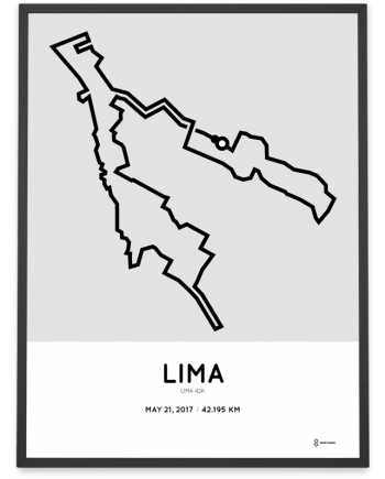 2017 maraton Lima 42k course poster