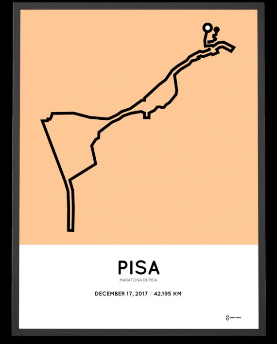 2017 maratona di pisa course poster