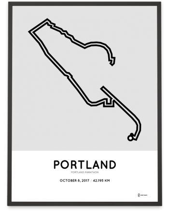 2017 Portland marathon course print