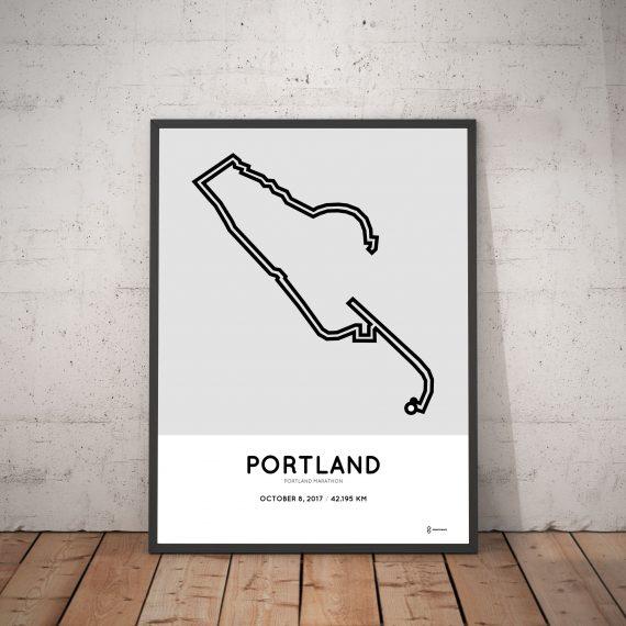 2017 Portland marathon art route poster