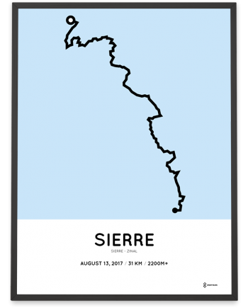 2017 Sierre-Zinal trail course poster