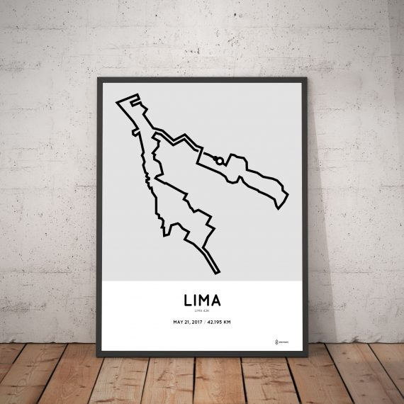 2017 Lima marathon course print map