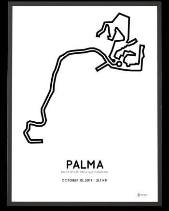 2017 Palma de mallorca half marathon course poster