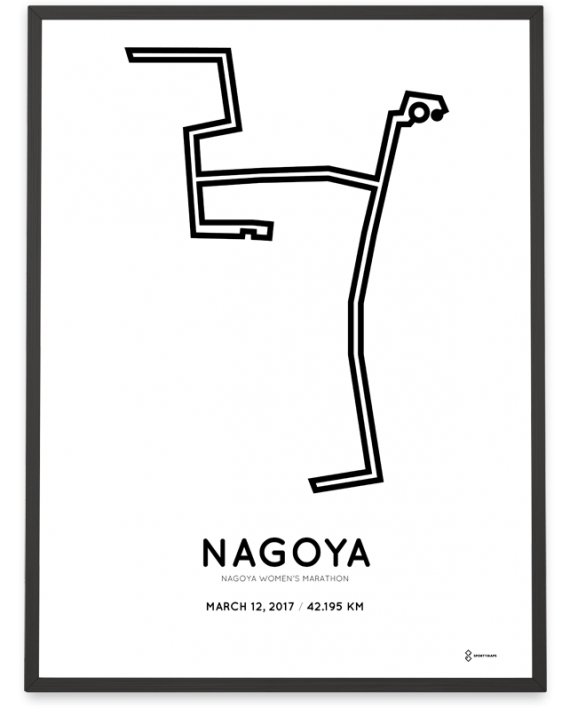 2017 nagoya womens marathon course poster