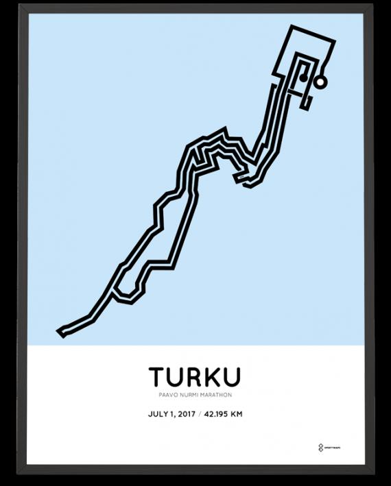 2017 paavo nurmi marathon course poster turku