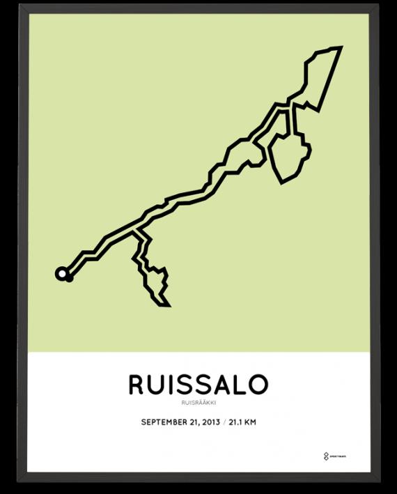 2013 ruisraakki half marathon course poster
