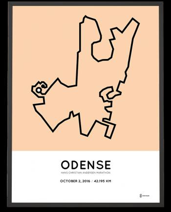 2016 Odense marathon course poster