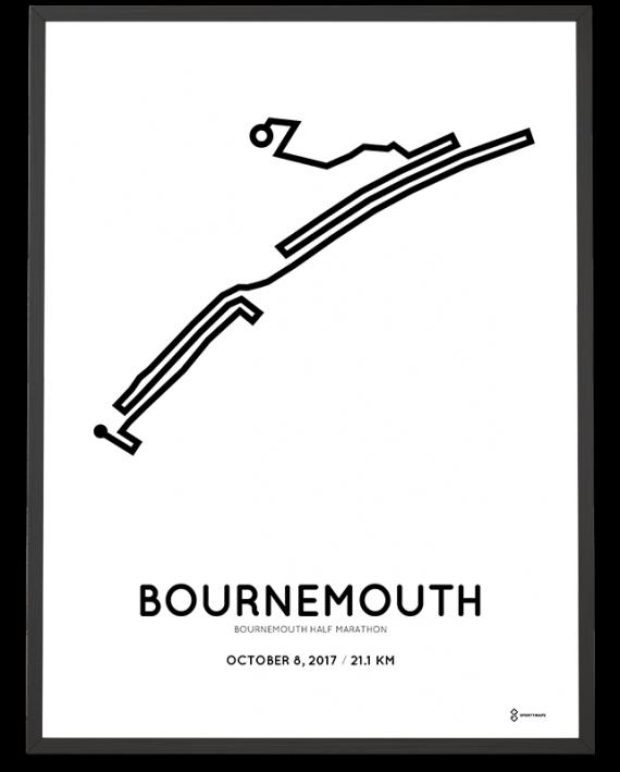2017 Bournemouth half marathon course poster