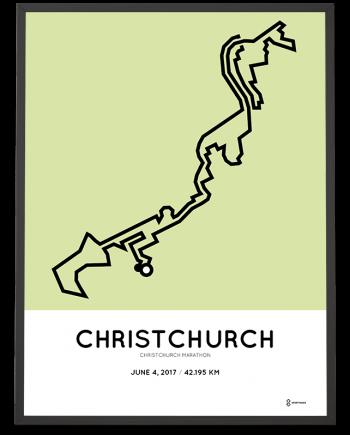 2017 Christchurch marathon course poster