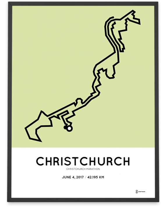 2017 Christchurch marathon course poster
