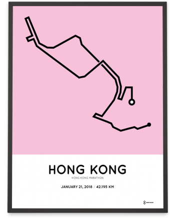 2018 Hong Kong marathon course poster