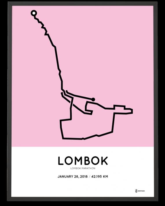 2018 Lombok marathon course poster