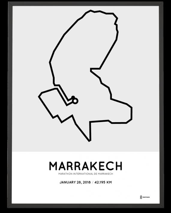 2018 Marrakech marathon route poster