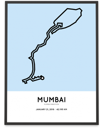 2018 Mumbai marathon course poster