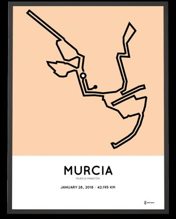 2018 Murcia marathon course poster