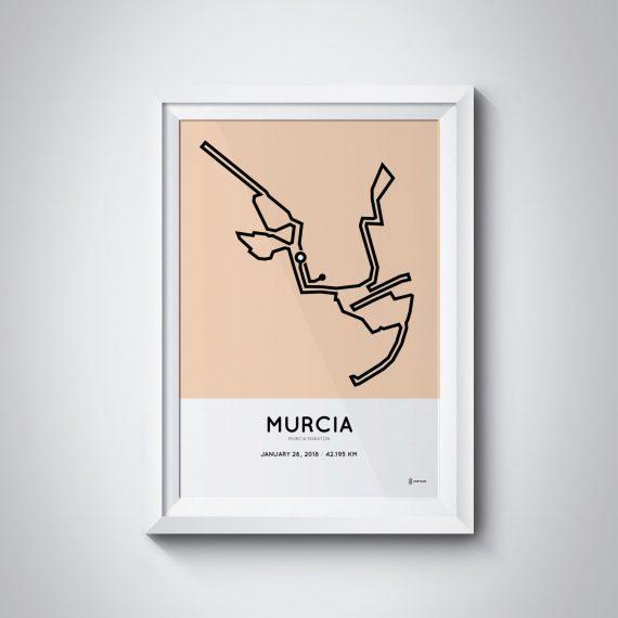 2018 Murcia marathon course print